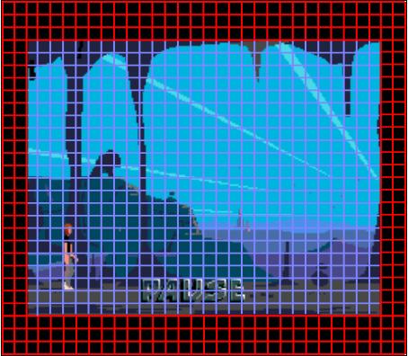 8x8 pixel rács